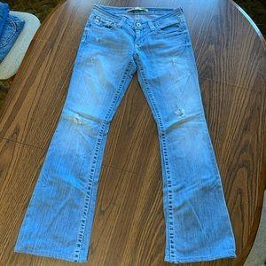 Distressed Sweet Ultra-Low Big Star Jeans W28/32L